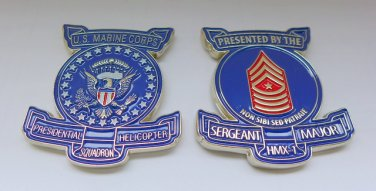 Challenge Coin MILITARY HELICOPTER HMX-1 US MARINES