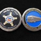 Challenge Coin Presidential Bus Coach Secret Service
