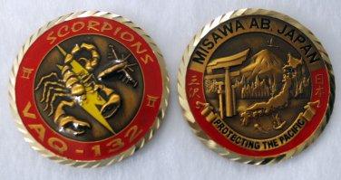 MISAWA Air Base Airplane Scorpions USAF American Challenge Coin USA Japan