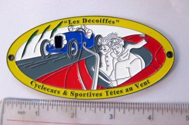 motorcylce car Emblem metal plaque sports car 5 inch long
