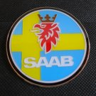Saab Hood badge emblem decal METAL PERMANENT STICKER
