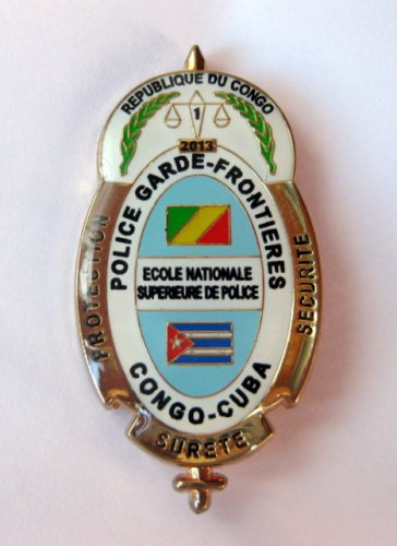 Congo Cuba Police Security Pin Badge Police Garde-frontieres