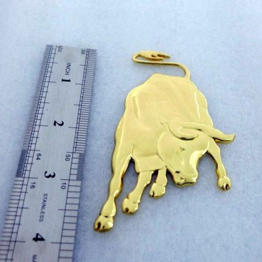 NEW Gold Metal BULL Toro Car Badge Lamborghini