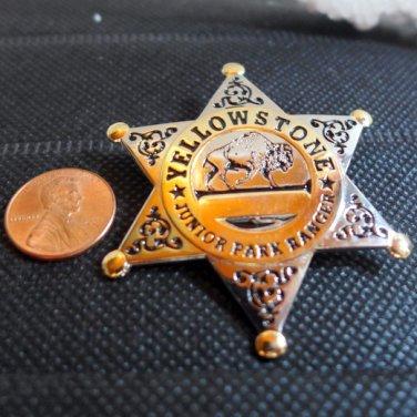 Yellowstone Jr Park Ranger Badge BRASS METAL BUFFALO