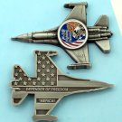 Challenge Coin F-16 fighting FALCON 2 1/2 inch long 1 3/4 in wide