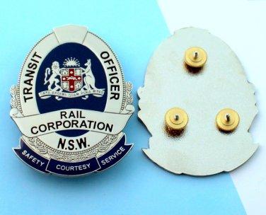 transit badge Railway security kangaroo 2 1/2 inch tall obsolete usa shipping