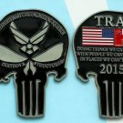 Challenge Coin Punisher Air Force Trab 4 Inch