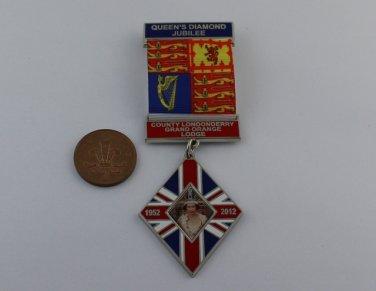 Queen Elizabeth II Diamond Jubilee Medal Ribbon Grand Orange Lodge