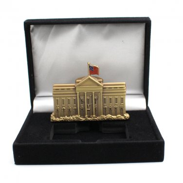 White House Challenge Coin Free Standing Paper Weight 2 Inch Tall & Box