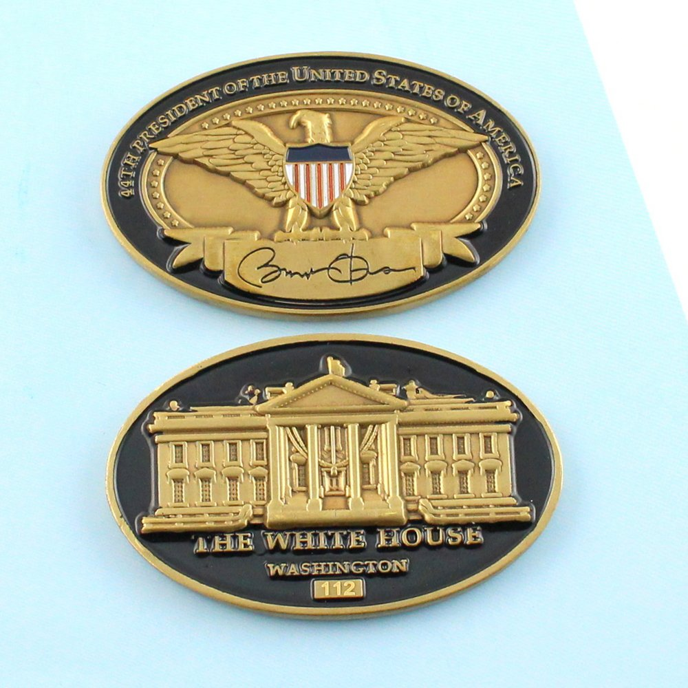 Challenge Coin United States Barack Obama White House Usa Eagle 2 1/4 Inch