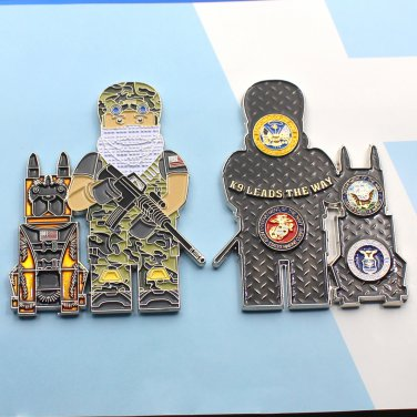 Challenge Coin LEGO United States Department of Defense k-9
