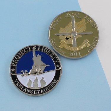 Challenge Coin MC-12W Liberty Kandahar Airfield AFGHANISTAN airplane