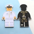 Challenge Coin Navy Chief USN Lego Man White Uniform
