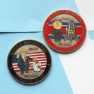 Challenge Coin Kim Jong Un Nuclear North DPRK KOREA DONALD TRUMP FACE OFF