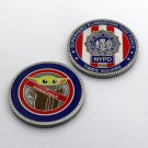 Challenge Coin Nypd New York City Police Times Square Baby Yoda