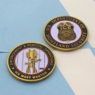 Federal Law Police Ice Challenge Coin Trump Baby Groot In Jail