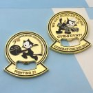 Challenge Coin Strike Fighter Squadron Felix The Cat Cartoon Navy Bomb To Isis
