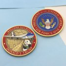 Challenge Coin DONALD TRUMP Air Force One AIRPLANE CHINA PANDA GREAT WALL