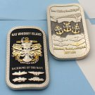 Challenge Coin Naval Air Station (NAS) Whidbey Island USN NAVY ANCOR SKULL