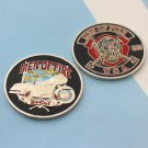 Challenge Coin Fireman Firefighting Fire Motorcycle Riders Club
