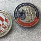 Challenge Coin Chief Cmsgt Air Force Jeremah Simon Master Sergent Wingman