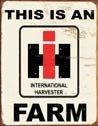 International Harvester Tractor Tin Sign #1279
