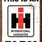 International Harvester Tractor Ice Box Magnet #M1279
