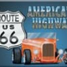 Route 66 Roadster Ice Box Magnet #M729
