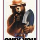 Smokey The Bear Ice Box Magnet #M834