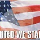 United States Flag Ice Box Magnet #M976
