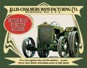 Allis Chalmers Tractor Tin Sign #1134