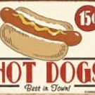 Hot Dog Tin Sign #1172