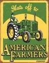 American Farmer Tractor Tin Sign #1173