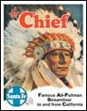 Chief Santa Fe Train Tin Sign #828