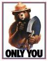 Smokey Bear Tin Sign #834
