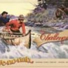 Canoe River Fishing Tin Sign #1215