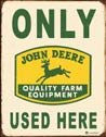 John Deere Tractor Tin Sign #1231