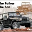 Jeep tin sign #1236