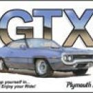 Plymouth GTX tin sign #844