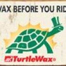 Turtle Wax tin sign #1387