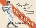 Lou Gehrig tin sign #629