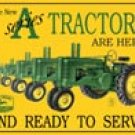 John Deere tractor  tin sign #667