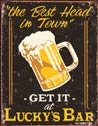 Best Head In Town tin sign #1200