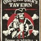 One Eyed Jack tin sign #1322