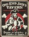 One Eyed Jack tin sign #1322