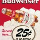 Budweiser Beer tin sign #981
