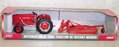 International Harvester 300U Diecast Tractor and Rotary Mower 1:16 Scale
