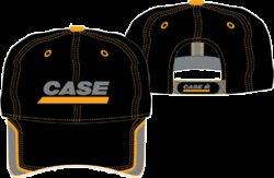 Case Construction Tractor Baseball Hat (Black + Yellow)