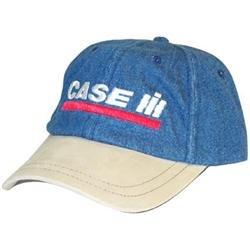 Case International Harvester ( Blue + Tan ) Denim Hat
