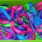 (60) New Rubber Bracelets Assorted Colors